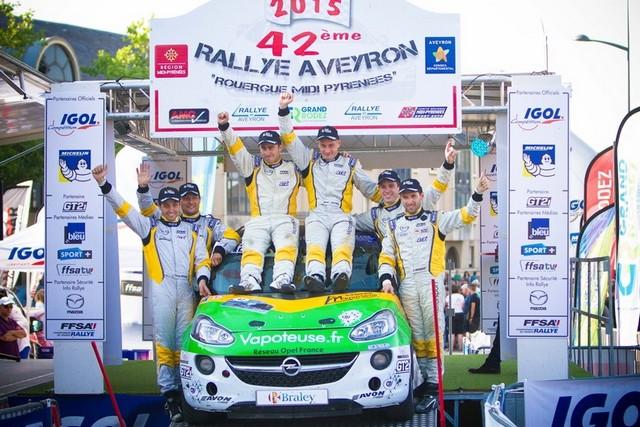 42ème Rallye Aveyron Rouergue Midi-Pyrénées (9 au 11 juillet 2015) : Rémi Jouines prend le large ! 360143OpelADAMR2296621