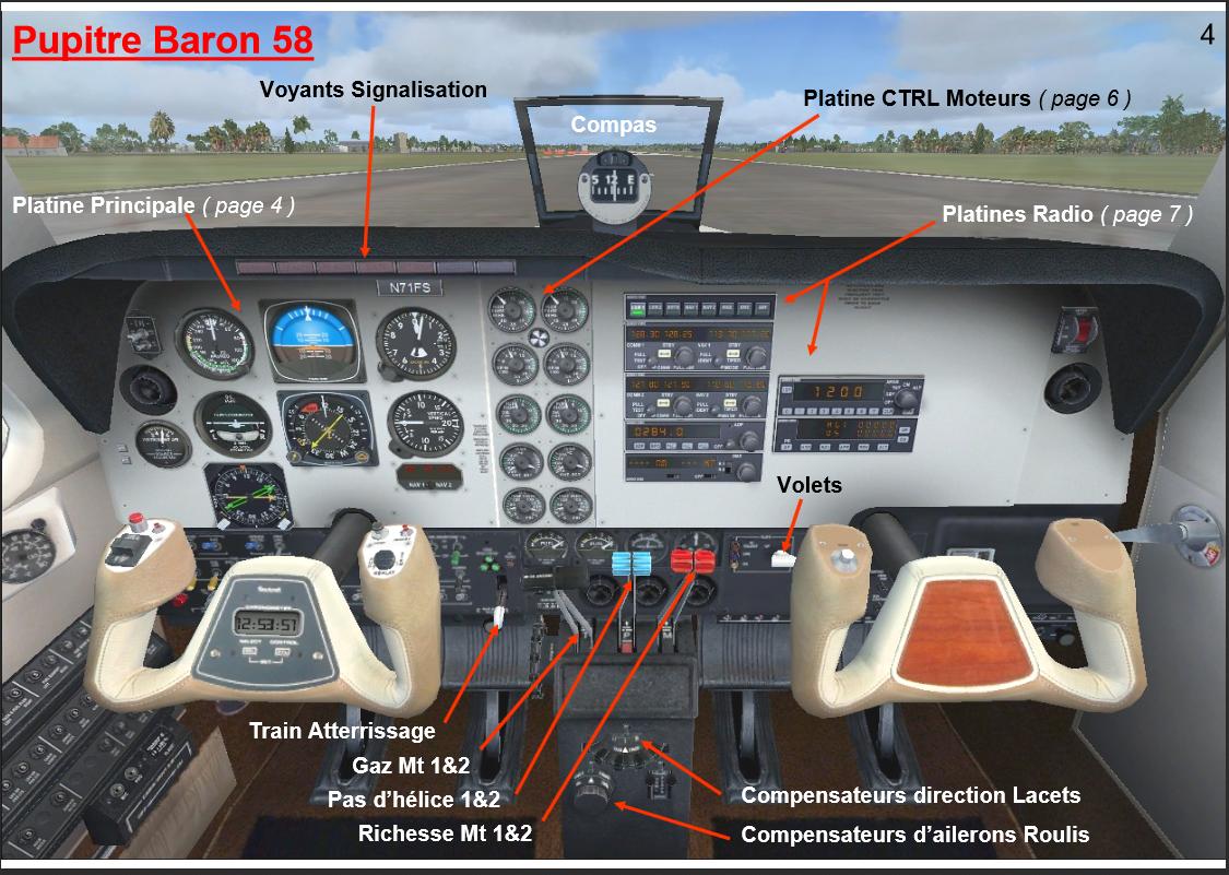 Le cockpit du Baron 58 363536Capture