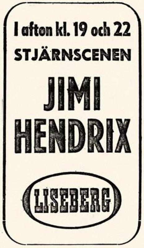 Göteborg (Stjaarnscenen) : 12 septembre 1967 [Premier concert]  368730page5901002full