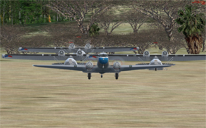 Vol en formation en Afrique (DC3) 3789172013222215114114