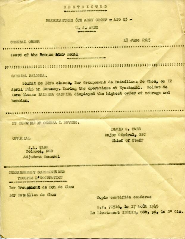 LES DÉCORATIONS AU CHOC 1943-1945. 385342img0721