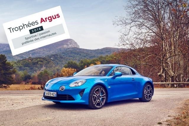 Trophée de l'Argus 2018 : Alpine A110 Première Édition plébiscitée 38556921201537TrophedelArgus2018AlpineA110PremireEdition