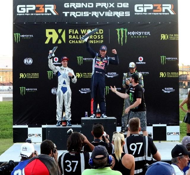 Rallycross : La PEUGEOT 208 WRX et le Team Peugeot Hansen triomphent au Canada ! 387806podium