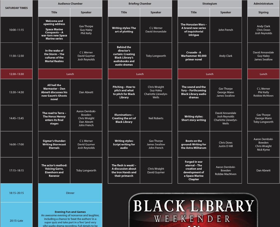 [Black Library Weekender 2017] Préparation, questions et autre 388539351