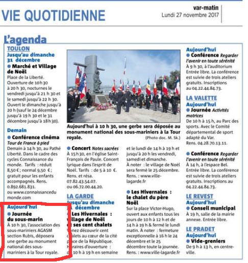 [Association anciens marins] AGASM Amicale RUBIS TOULON - Page 7 39171351VM