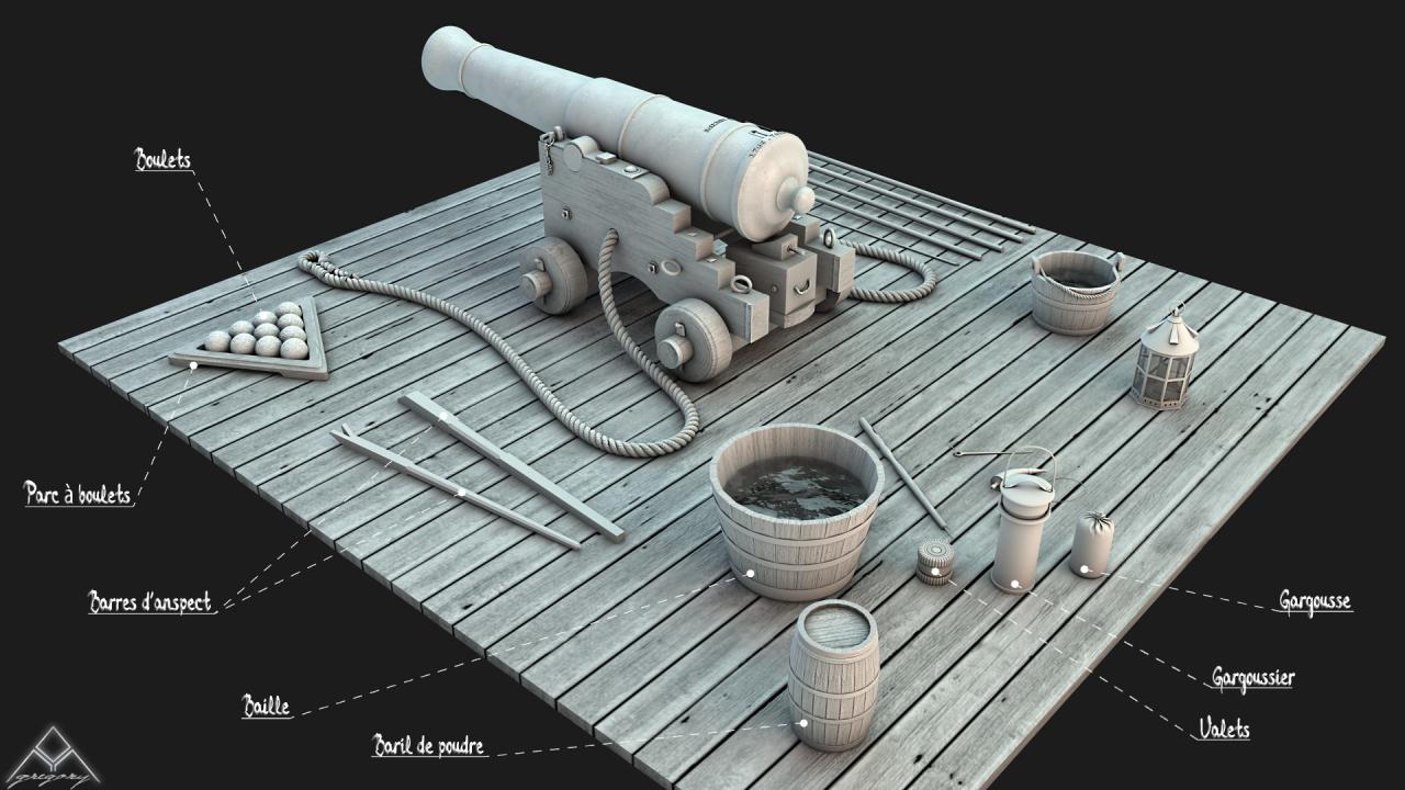 Canons pour le vaisseau de 74 canons - Page 3 392490Outillagescanons1