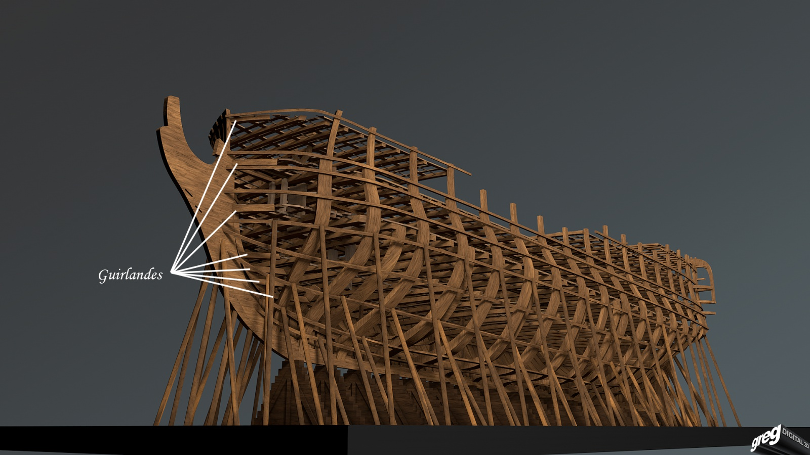 Vaisseau 74 canons Lucide [Création 3D] de Greg_3D - Page 4 392600Squeletteguirlandes