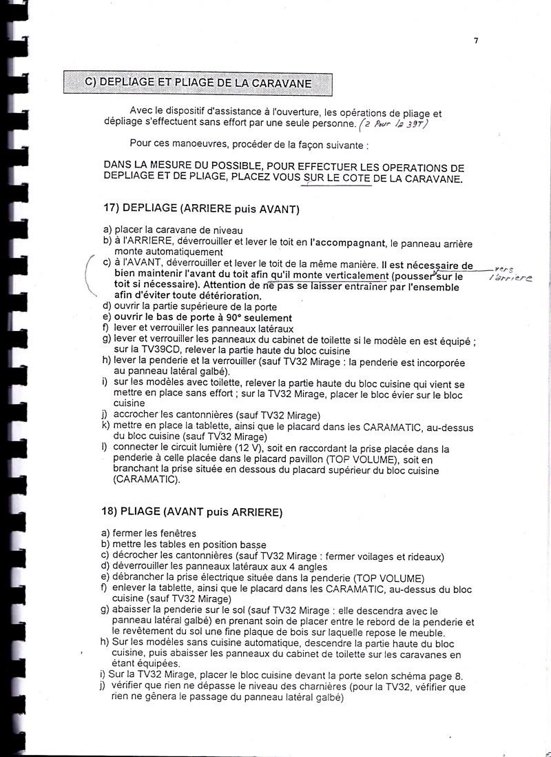 Manuel d'utilisation et d'entretien des caravanes Esterel 1997/1998 392847IMG0007