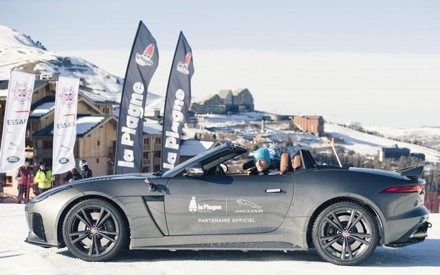 Romain Grosjean Inaugure La « Jaguar Fun Zone » A La Plagne Au Volant De La Jaguar F-Type SVR 407898romaindansvoitire
