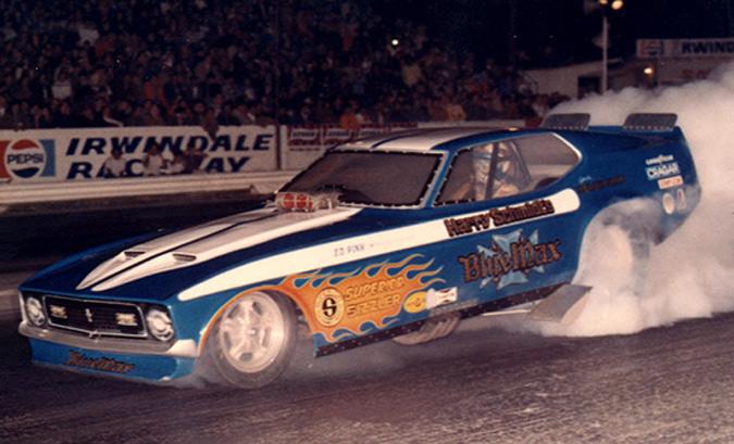 Blue Max Funny Car 408891BlueMax72Mustang