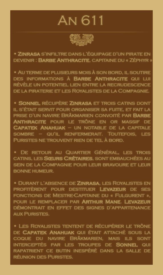 Chronologie des Odyssées de la Compagnie des Zindes 41102106611
