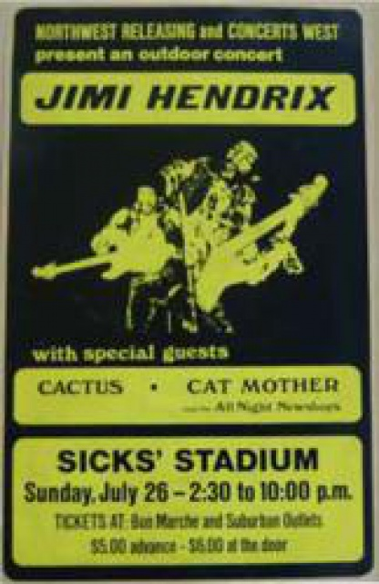 Seattle (Sicks Stadium) : 26 juillet 1970   414969gI115966jimihendrixsicksstadium