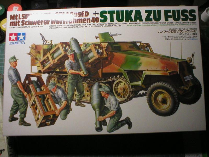 Mtl.SPW.Sd.Kfz.251/1Ausf.D mit Schwerer Wurfrahmen 40 STUKA ZU FUSS  1/35 de TAMIYA 415409P101000201