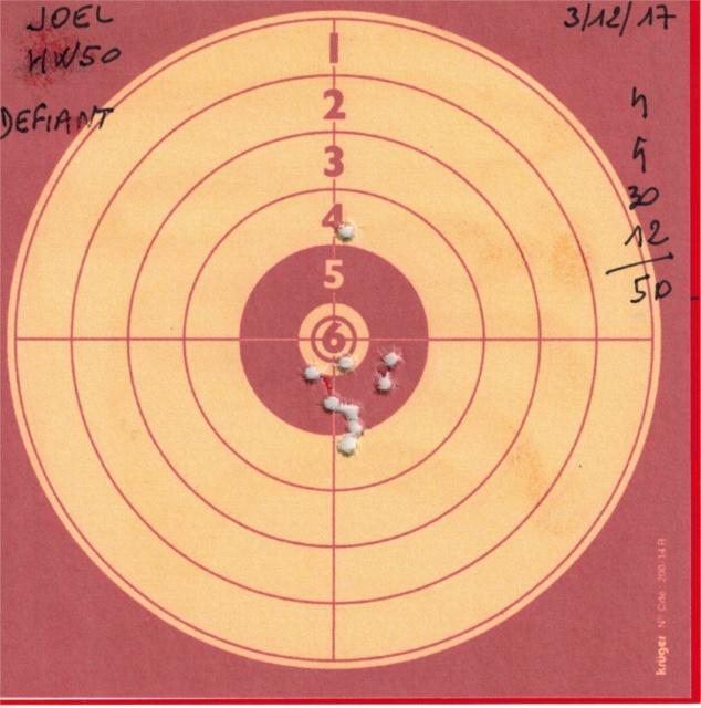 Tests plombs avec carabine Weihrauch HW50S 419931HW50DEFIANT