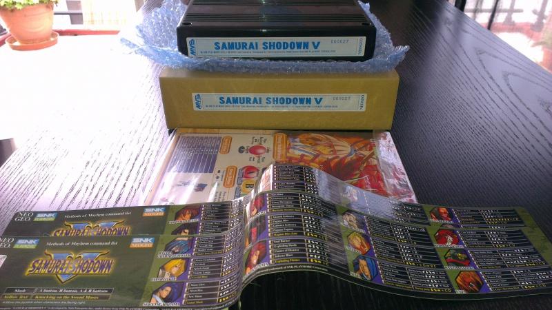 Samurai Shodown 5 avec Serial 000001, Fake ou pas Fake ? 420577IMAG0286