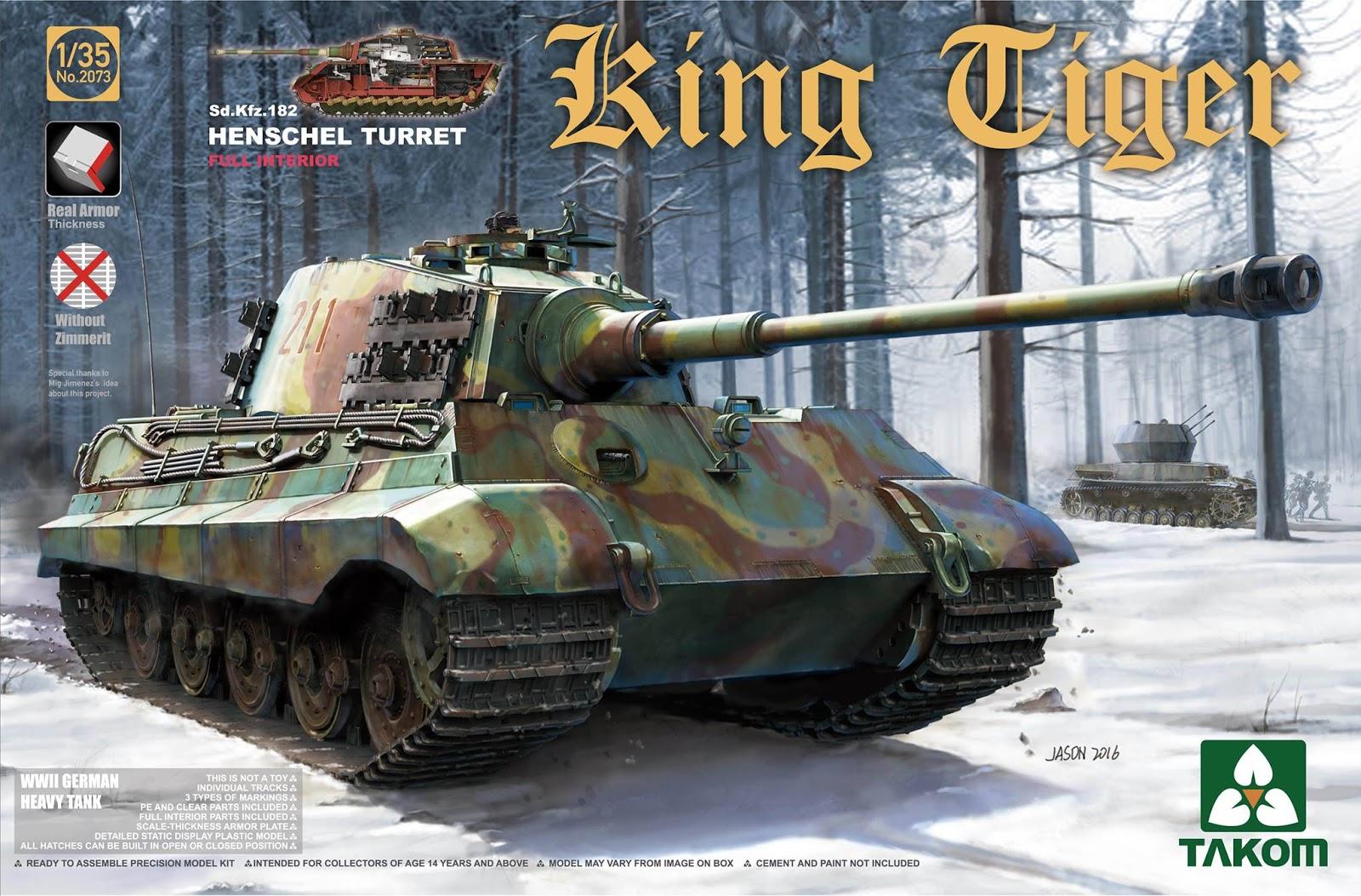 King Tiger Sd.Kfz.182 (Henschel) - TAKOM - 1/35 422868Takom35thKingtigerHenschel