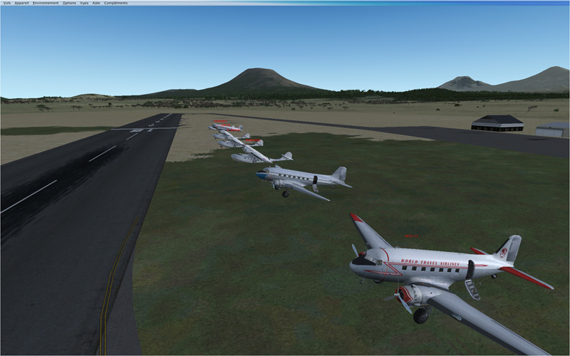 Vol en formation en Afrique (DC3) 4231362013222204117494