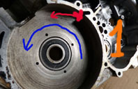 MZ 125 TS changement de roulements d'une MZ 125TS 426887P1030109