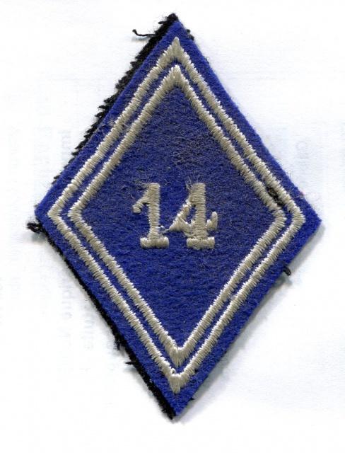 Deux soutaches à l'insigne régimentaire du 1er RCP 427767TISSU6001