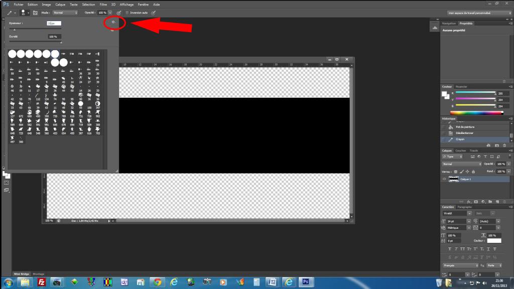 Créer une pellicule photo-diapo avec photoshop - Page 3 431250outil10