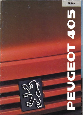 Brochure 405 Break - 1989 - Belgique (fr) - 32 pages 4355044051