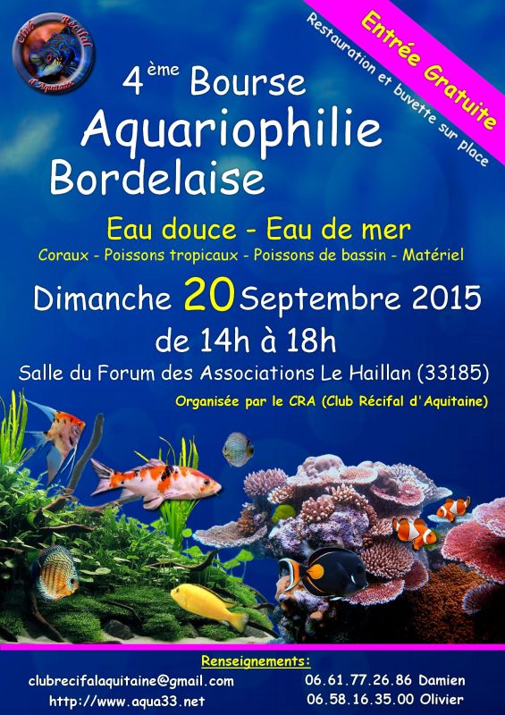 4 ieme bourse aquariophile bordelaise 20 Septembre 2015 435541AffichebourseCRA2015redim