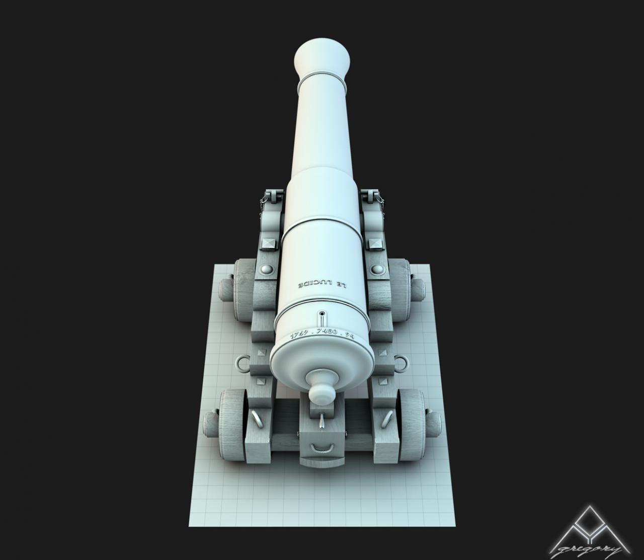 Canons pour le vaisseau de 74 canons 437699Canon362