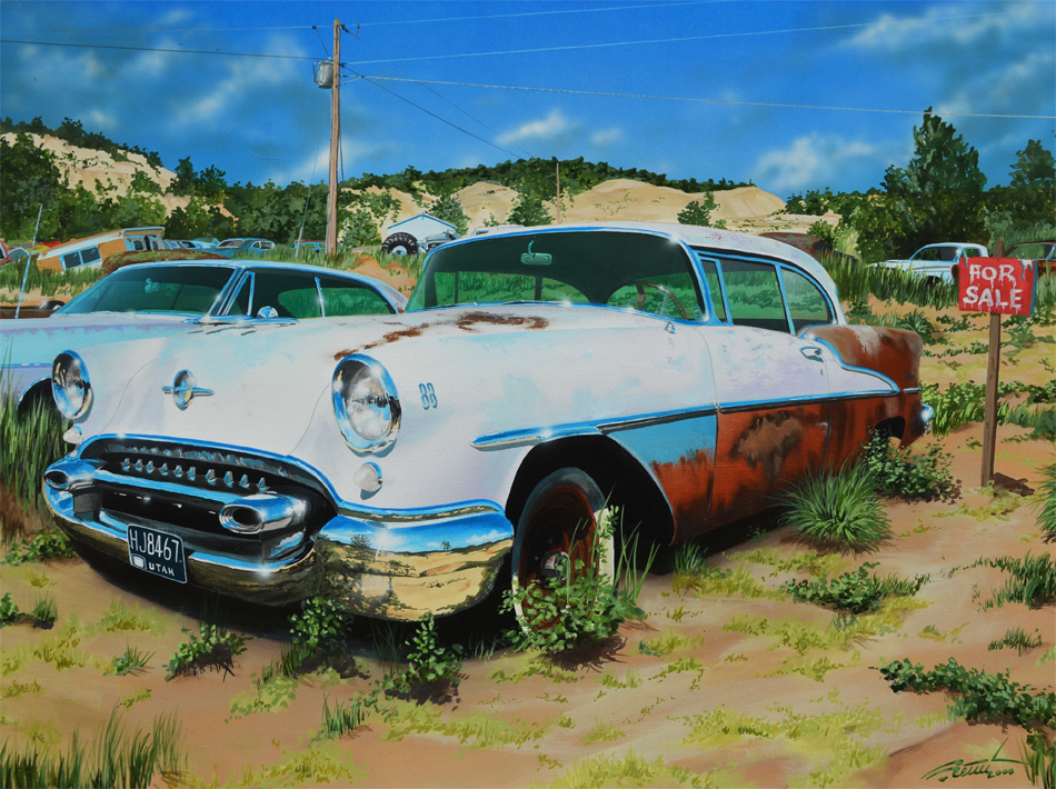 Patine, peinture et rouille - Barn find & Patina - Page 2 441452olds55