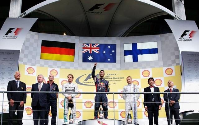 F1 GP de Belgique 2014 : Victoire Daniel Ricciardo 4418232014podium