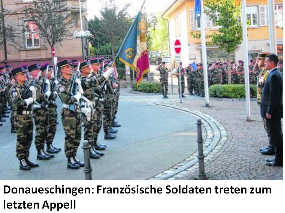 Brigade franco-allemande: dissolution du 110e régiment d'infanterie français de Donaueschingen  4430631110ridernierlevercouleur
