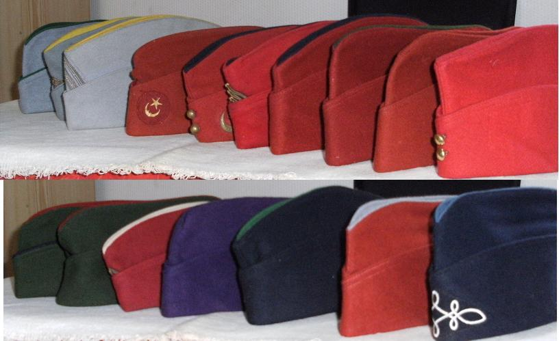 Calot de la légion étrangère (bonnet de police) 450248calots1