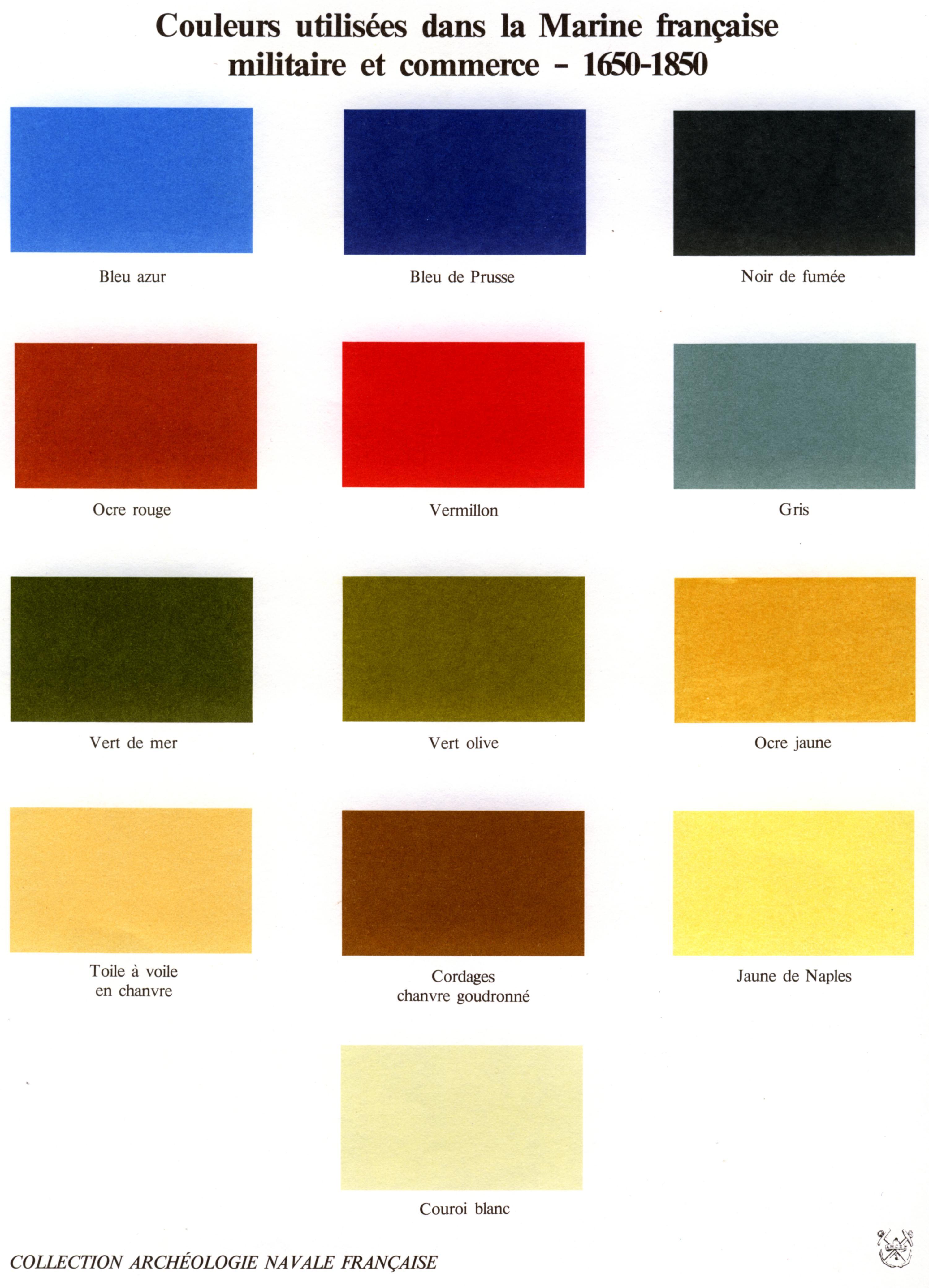 Nuanciers et différents tableaux de correspondance 452827Couleursmarineancienne