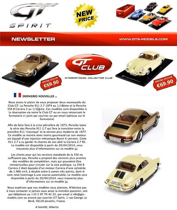 GT Spirit ( miniatures au 1/18 et au 1/12 éme ) - Page 3 462032newsFR