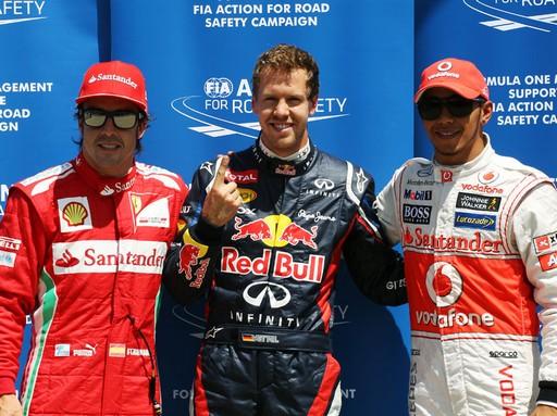 F1 GP du Canada 2012 : (essais libres-1-2-3-Qualifications) 462074FernandoAlonsoSebastianVettelLewisHamilton