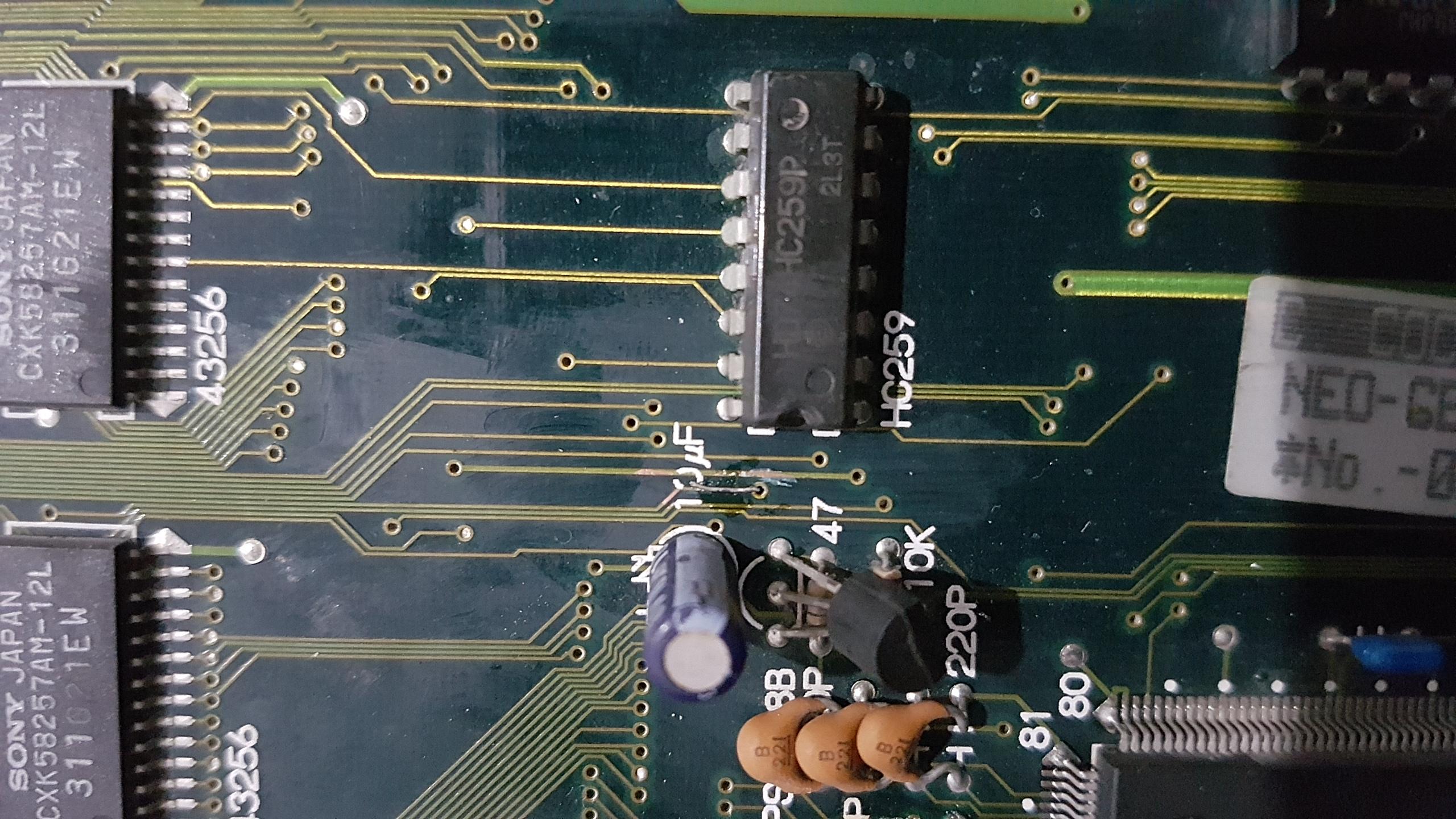 Réparation slot MVS MV1FS 46881620171017230030