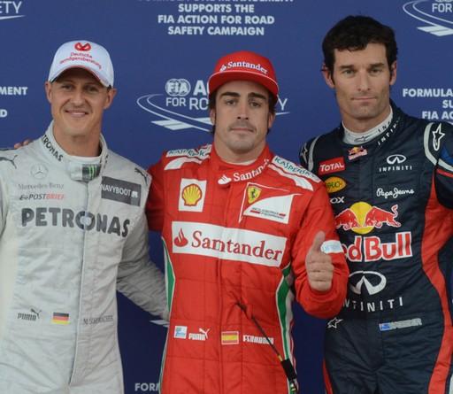 F1 GP de Grande-Bretagne 2012 (essais libres 1 -2 -3 -Qualifications)  4706942012MichaelSchumacherFernandoAlonsoMarkWebber