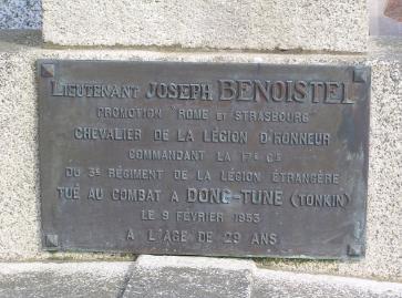 Mémorial des Soldats de Loire Atlantique Morts pour la France en Indochine 471037benoistelinscriptionguerande44