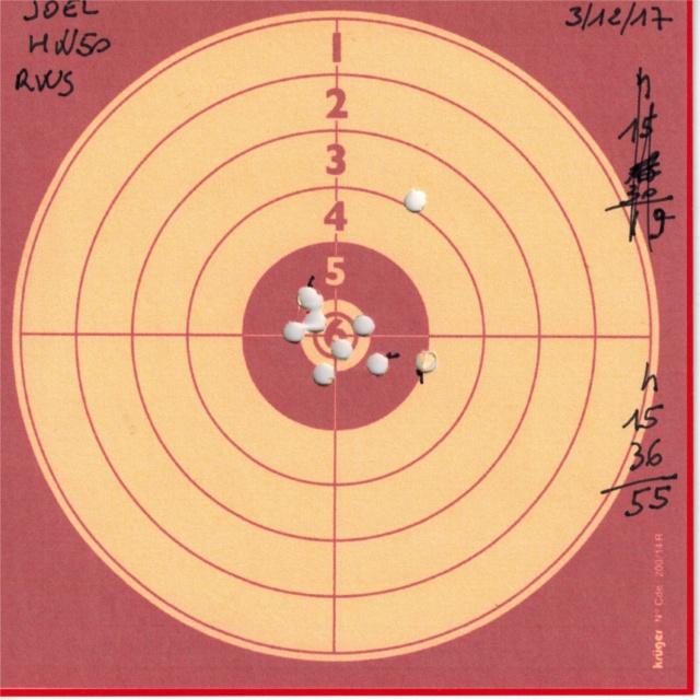 Tests plombs avec carabine Weihrauch HW50S 474736HW50RWSDIABOLOBASIC