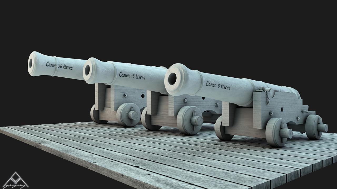 Canons pour le vaisseau de 74 canons - Page 3 478517Ensemblescanons