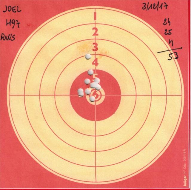 Tests plombs avec carabine Weihrauch HW97 BL 479108HW97RWSDIABOLOBASIC