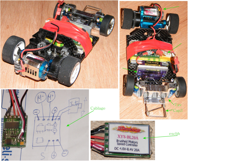 proto mr02 brushless , proto brushed , carro lola perso a leds sans fils  482843mzrm2