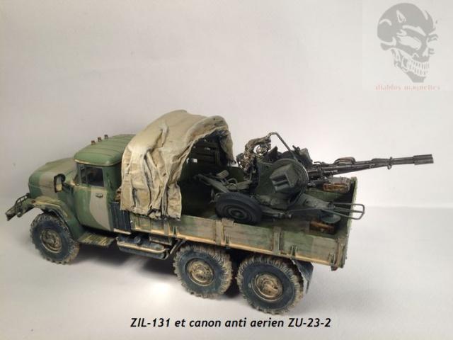 ZIL-131 avec canon anti-aérien ZU-23 en Afghanistan,maquette revell 1/35 484823IMG4537