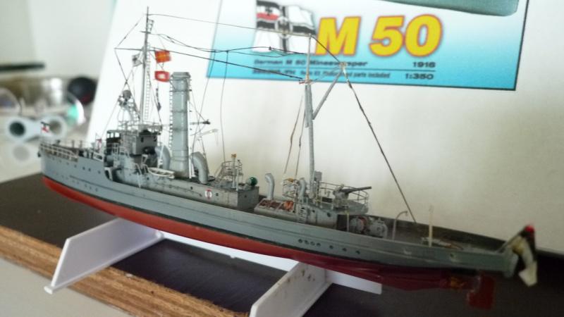Dragueur de mine allemand SMS M50 au 350ème 486114P1010449