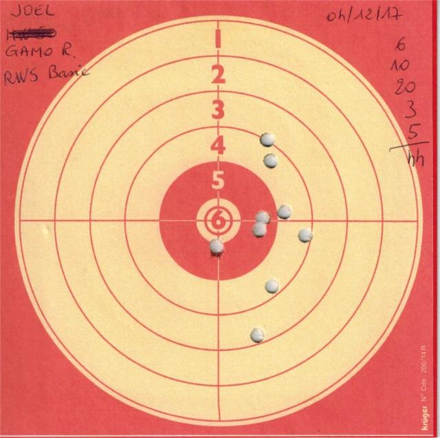 Tests plombs avec carabine Gamo Replay 490154GAMOREPLAYRWSDIABOLOBASIC
