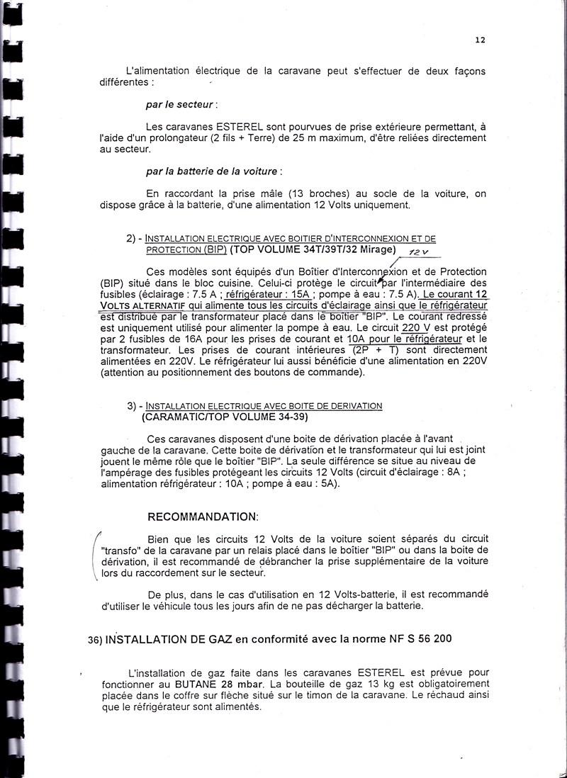 Manuel d'utilisation et d'entretien des caravanes Esterel 1997/1998 491101IMG0012