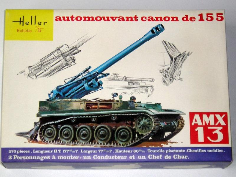 AMX 13 canon de 155 1/35ème Réf L 782 492729AMX13155782001Heller135