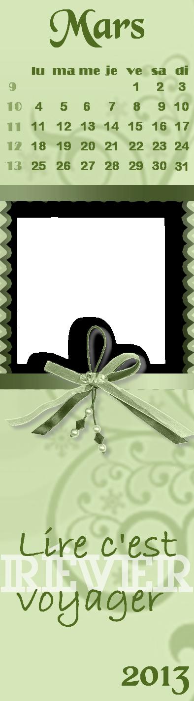 Calendriers marque-pages par mois à personnaliser 50162203copie