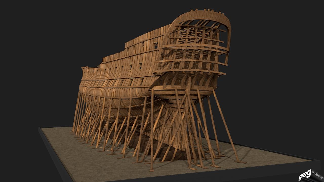 Vaisseau 74 canons Lucide [Création 3D] de Greg_3D - Page 4 506108Squeletteproue