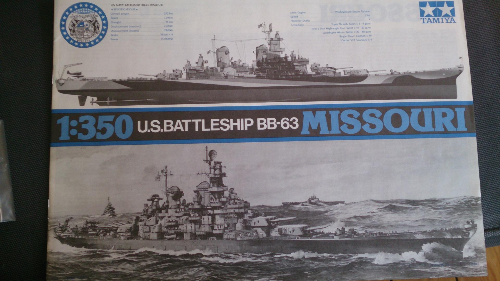 USS MISSOURI 1/350 TAMIYA 507603Missouribb6329