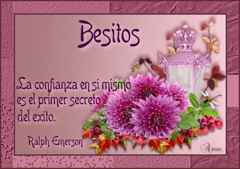 Flores con Frase 510965besitos